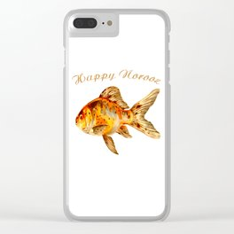 Elegant Happy Norooz Goldfish Persian New Year Clear iPhone Case