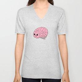 Cute Happy Brain Unisex V-Neck