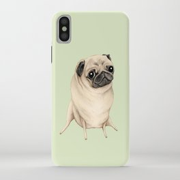 Sweet Fawn Pug iPhone Case