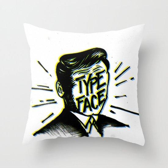 Typeface Throw Pillow