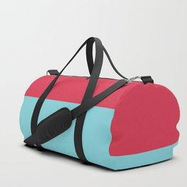 Pink Blue Minimal Home Decor Print Printable Art, Colorful Lines, Pattern, Modern Art Duffle Bag