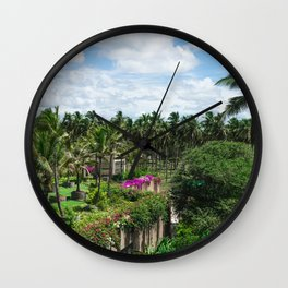 Sri Lankan Gardens Wall Clock