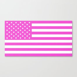 U.S. Flag: Pink Canvas Print