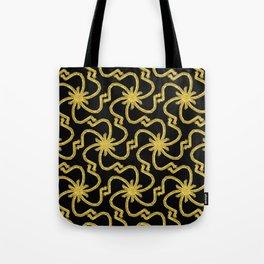 Golden Starburst Tote Bag