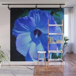 Blue Hibiscus Wall Mural