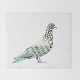 Tessellated Pigeon Throw Blanket