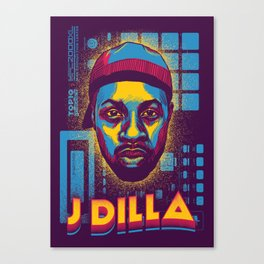 Mr.Dilla ( Top 10 Producers series ) Canvas Print