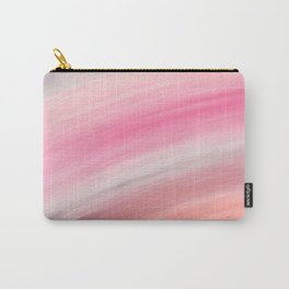 Girly aurora pink coral abstract brushstrokes Carry-All Pouch