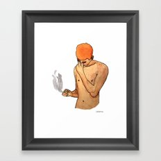 Sadness Smokes Framed Art Print