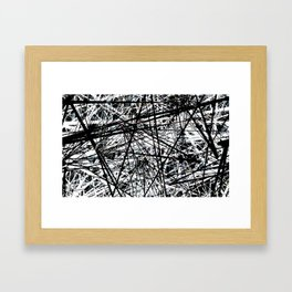 Line Evolution Framed Art Print