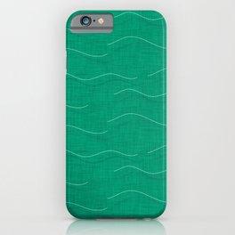 SHARK WHALE WAVES AQUA iPhone Case