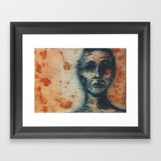 Blue Figure Framed Art Print