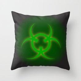 Bio Hazard Sign Throw Pillow