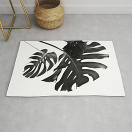 Tropical Monstera Finesse #2 #minimal #decor #art #society6 Rug