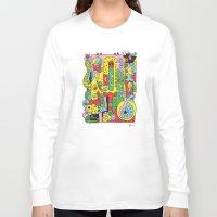 ice cream Long Sleeve T-shirts featuring Ice Cream by Rabassa