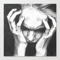pain Canvas Prints featuring Pain by ArtLm