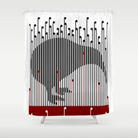 maori Shower Curtains featuring Kiwi in Rapou by mailboxdisco
