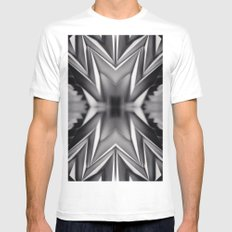 Paper Sculpture #8 White MEDIUM Mens Fitted Tee