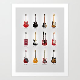 Guitar Icons No1 Art Print