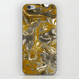 Brown and grey Marble texture acrylic Liquid paint art iPhone Skin
