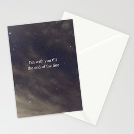 Till the End of the Line Stationery Cards