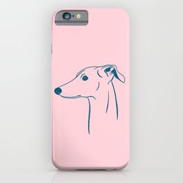 Italian Greyhound (Pink and Blue) iPhone Case