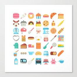 CUTE BAKERY PATTERN (CUTE CHEF BAKER) Canvas Print