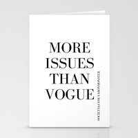 vogue Stationery Cards featuring #VOGUE by YUNG-GOD