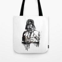 darth vader Tote Bags featuring Darth Vader by Jon Hernandez