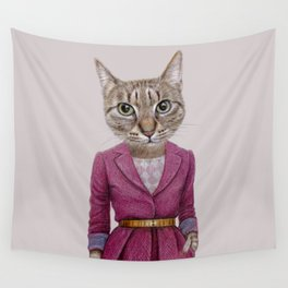 cat Mrs Wall Tapestry