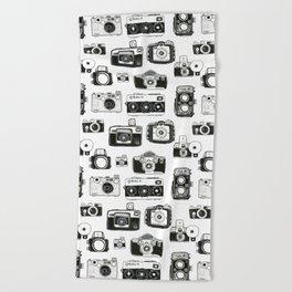 Vintage Cameras Beach Towel