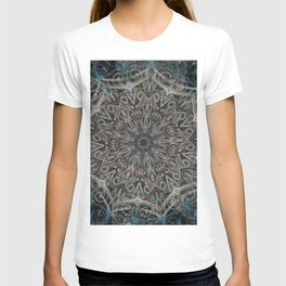 Blue and black Center Swirl T-shirt