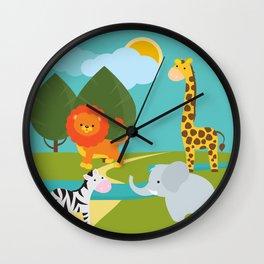Animals, nursery decor , children gift, birthday gift Wall Clock