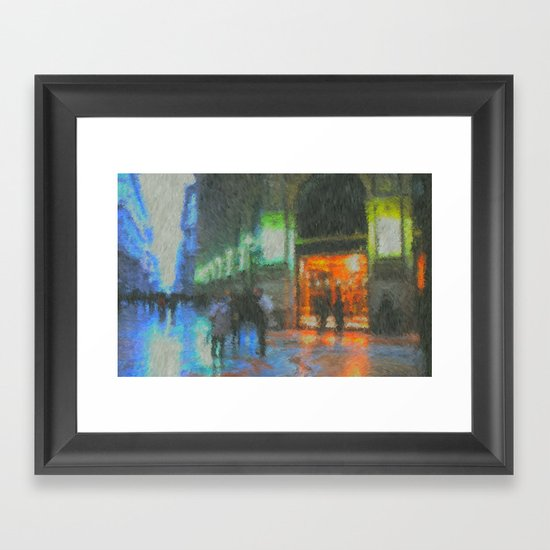 Streets of Milan Framed Art Print