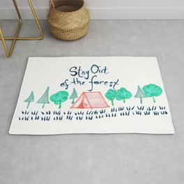 Stay Out of the Forest Rug