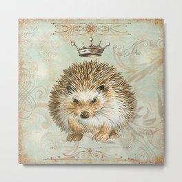 The angry  hedgehog Metal Print