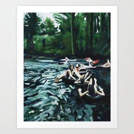 Boulder Creek Float Art Print