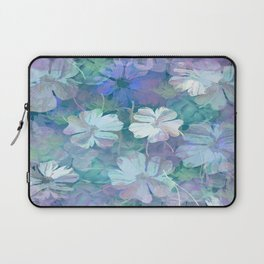Painterly Midnight Floral Abstract Laptop Sleeve