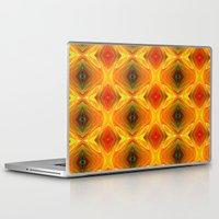 orange pattern Laptop & iPad Skins featuring Orange Pattern by Art-Motiva