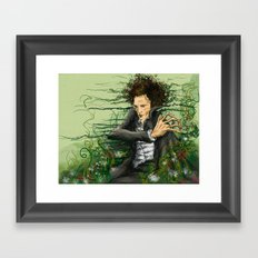 The green thumb curse I Framed Art Print