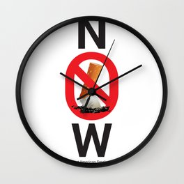 Stop smoking now - Great American Smokeout Wall Clock