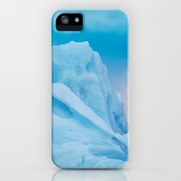 Abstract Blue Icelandic Iceberg iPhone Case