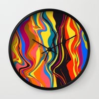 african Wall Clocks featuring African Heat by Matthias Hennig