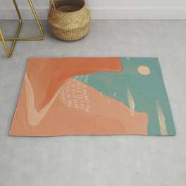 Warm Canyons - What Is Meant To Be - Quote Rug