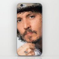 johnny depp iPhone & iPod Skins featuring Johnny Depp by lauramaahs