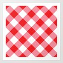 Gingham - Red by dizanadesigns