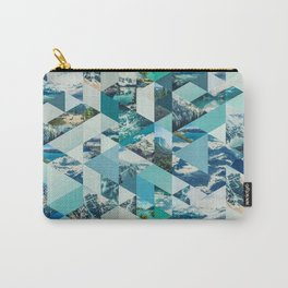 THE MOUNTAINS CALL - geometric photo collage Carry-All Pouch