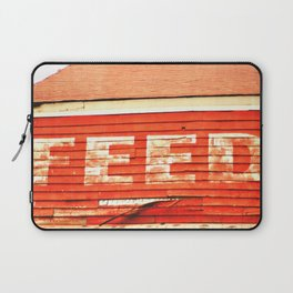 rustic feed sign Laptop Sleeve