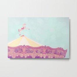 Carousel Dream Mint Metal Print