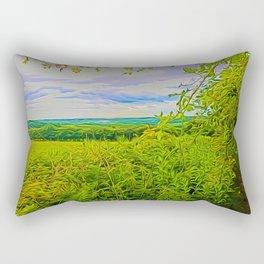 Parbold Hill (Digital Art) Rectangular Pillow
